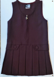 Zip Pinafore Maroon- Infants Only